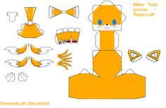 Miles ''Tails'' Prower Papercraft by terrmedia on DeviantArt