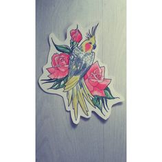 Quick sketch #custom #parrot #portrait #tattoo #design #eyebeka #roses #rosetattoo #parrottattoo #tattoodesign #tattooartist #cockatiel #tattooflash #watercolor #aquarelle #ūdenskrāsas