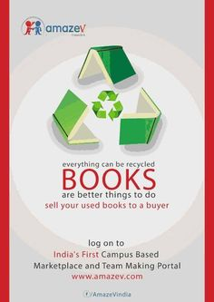 www.amazev.com :: India's First Campus Based Marketplace & Team Making Portal::  Every thing can be recycled,BOOKS are better things to do..  ::Buy-sell-Connect:: in your campus itself.    books-study materials -other Edu accessories  