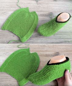 Easy Slippers - Free Knitting Pattern - Quick, Easy, Cheap and Free DIY Crafts Knitted Throw Patterns, Knitted Throws, Knitting Patterns Free, Knitted Booties, Knitted Slippers, Knit Socks, Crochet Pumpkin Hat, Knit Slippers Free Pattern, Easy Knitting Projects