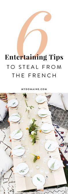 Entertaining tips from the French