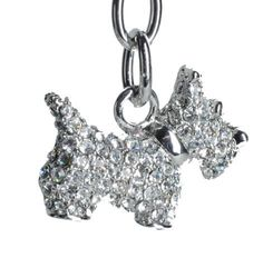 Lilly Rocket Rhinestone Scotty Dog Key Chain with Swarovski Crystals