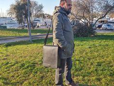 iPad Pro Leather Bag, Vertical Messenger Bag. LARGE SIZE Universal Tablet Case. Shoulder / Crossbody Bag. Black Leather, Handmade in Greece. by LeatherStrata on Etsy