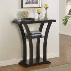 Lewis Distressed Black Sofa Table by I Love Living Black sofa