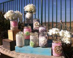 SHABBY CHIC WEDDING Decor. 18 Vintage Lace Mason Jars lanterns/vases. Head Table Decor, Wholesale Wedding Centerpieces