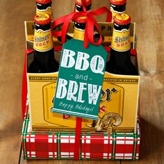 BBQ and Beer Gift Tags & Ribbon. Christmas Gift for Dad, Coworker, Neighbor, Beer Lover, Men. Gift Under 25. Gift for Him. Grilling Gift Set. Grilling Gift Idea. Beer Lover Gift Idea