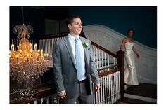 Look at the excitement in this groom's hands during their first look :) Chris & Siena's Wedding in The Berkshires | Kemble Inn | Lenox, MA