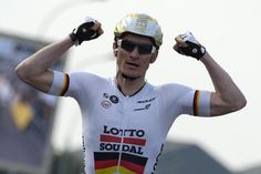 Not sure about the helmet but nice win for Greipel in stage 2 of Paris-Nice after getting it all wrong on the first stage