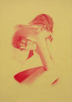 "Saatchi Online Artist: Franco Fusari; Conté, 2010, Drawing ""Chiara XII"""