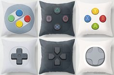 nes nintendo play station playstation xbox pillow gamer geek art craft indoor decoration hall chamber