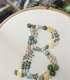 how to make hand embroidery patterns – Handstickerei Crewel Embroidery Kits, Flower Embroidery Designs, Simple Embroidery, Learn Embroidery, Embroidery Ideas, Embroidery Thread, Wedding Embroidery, Machine Embroidery, Modern Embroidery