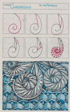 Life Imitates Doodles: My tangle pattern Curvaceous & Link to Geneviève Crabe's Giveaway