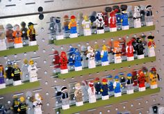 Lego Mini-Figure Display. This blog entry is actually a closet makeover...all about Legos.