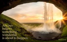 Always believe something wonderful is about to happen. Famous Waterfalls, Beautiful Waterfalls, Beautiful Landscapes, Portal, Jog Falls, Photo Café, Iceland Road Trip, Iceland Travel, Best Honeymoon Destinations