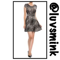 ❤️SALE ❤️BLACK AND WHITE ABSTRACT PRINT DRESS - SM Wear this cutie any season of your choice. Pair with a cardigan, cape, kimono; wear over tights, leggings, hose, jeggings or jeans.  The possibilities for trend setting is limitless.  Short, capped sleeves, elasticized gathered waist, and a flared skirt. 96/4 Poly/Spandex: 33 inches long. Sized Small, Medium, Large.  No holds or trades; price is firm, unless bundled.  This listing is a size SMALL Tyche Dresses Mini