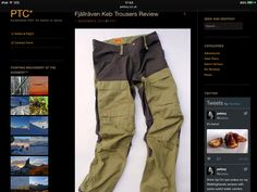 Keb pants by fjallraven