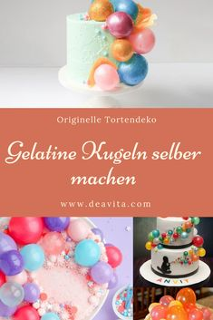 Wir sind uns sicher, dass Sie jetzt große Lust bekommen haben, Kugeln… We are sure that you now have a great desire, Try balls right now. We also have some pictures of and with such Gelatine, Sweets Cake, Cupcakes, Projects To Try, Food And Drink, Yummy Food, Desserts, Tricks, Breakfast