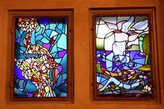 Window in Vålerengen church, Norway
