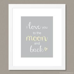 Simple Sugar Design's I Love You to the Moon and Back Print