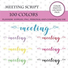 PRINTABLE 100 Colors Clip Art Cinema Marquee Clipart Planner Stickers Sign Theater Design PL047