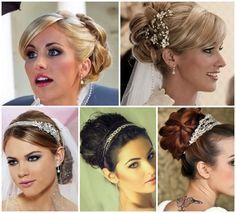 Penteados para usar com véu de noiva – 2013
