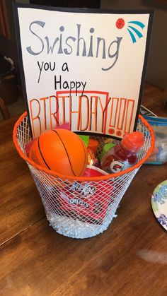 I Made This Gift Basket For My Boyfriends First Basketball