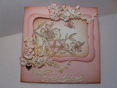 Tina Wenke stamps, Magnolia bloem, tekst Marianne Design