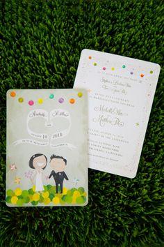 Adorable invites by Tiffany Chin Design (via style me pretty)