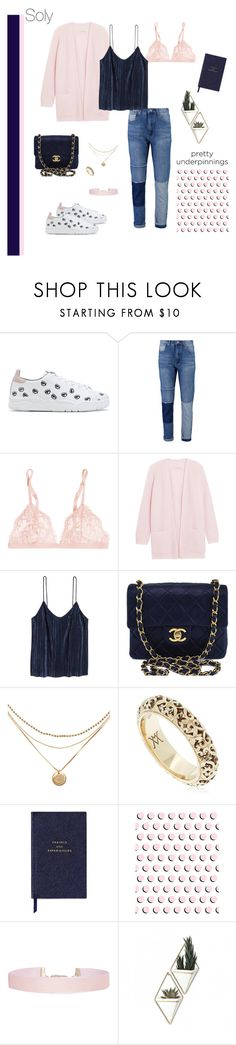"""Soly: casual"" by solyslstore ❤ liked on Polyvore featuring Chiara Ferragni, La Perla, By Malene Birger, H&M, Chanel, Vanzi, Smythson, Humble Chic and Umbra"