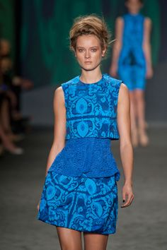layering with a crop top or very cool layered dress. Vera Wang S/S '13