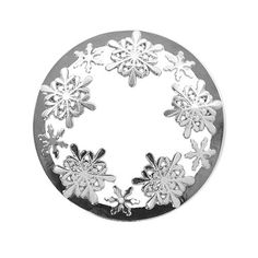 Woodland Shimmer : Illuma-Lid Jar Candle Topper:  Elegant and beautifully detailed snowflakes encircle this delightful holiday Illuma-lid® Jar Topper! Practical as well as pretty, this chrome jar topper is specifically designed to reduce the effects of drafts. Simply place the lid on a jar candle and it will help the candle flame burn steadier while allowing superb distribution of the scent.