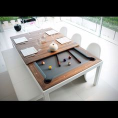 Buy Online Fusiontables Metal Line Dining Pools By Fusiontables Saluc,  Steel Pool Table