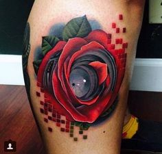 Digital rose and camera lens by andres acosta