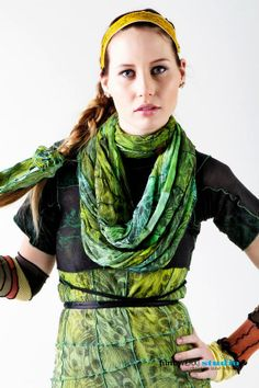 Reconstructed Hosiery Infinity Scarf and Shawl by sanssoucie, $100.00