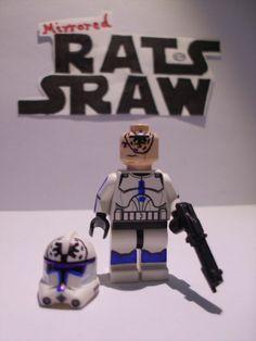 Lego Star Wars minifigures - Clone Custom Trooper Jesse - 501st
