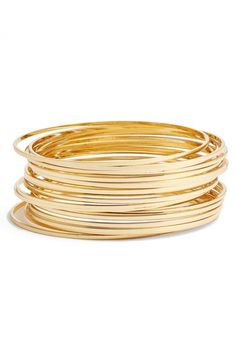 Main Image - Argento Vivo Stack Bangles (Set of 18)