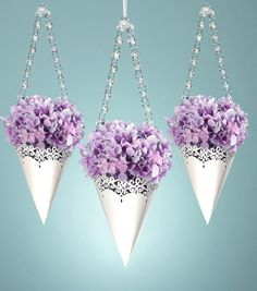 David Tutera Pearl Paper Cones for Wedding Ceremony