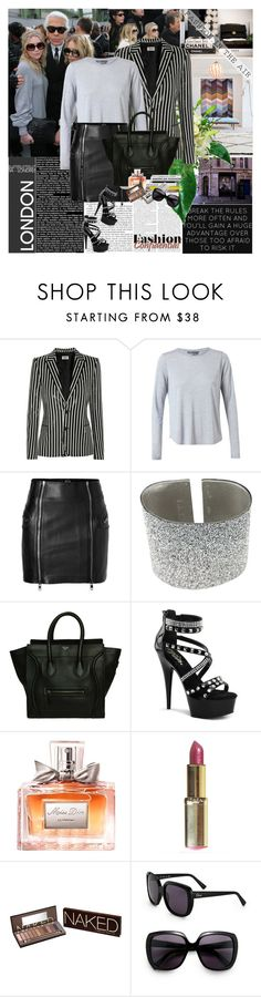 """""""Ashley and Mary-Kate Olsen"""" by rainie-minnie ❤ liked on Polyvore featuring Branca, Yves Saint Laurent, Vince, McQ by Alexander McQueen, Goti, CÉLINE, Christian Dior, L'Oréal Paris and Urban Decay"""