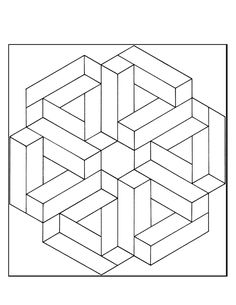 Optical Illusion Coloring Pages . Optical Illusion Coloring Pages . Incredible City Doodle Doodle Art Doodling Adult Coloring Pages Free Printable Coloring Pages, Free Coloring Pages, Coloring Books, Op Art, Geometric Designs, Geometric Shapes, Impossible Shapes, Geometric Coloring Pages, Graph Paper Art