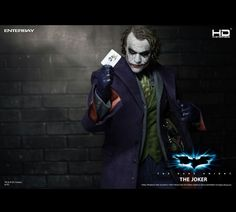 Enterbay HD masterpiece The joker Movie Collection, Dark Knight, Magazine Design, The Darkest, Action Figures, Sculptures, Joker, Batman, Fictional Characters