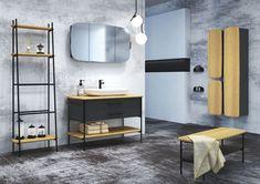 Modna łazienka: 12 kolekcji mebli - Galeria - Dobrzemieszkaj.pl Red Dots, Double Vanity, Loft, Cabinet, Studio, Bathroom, Storage, Furniture, Design