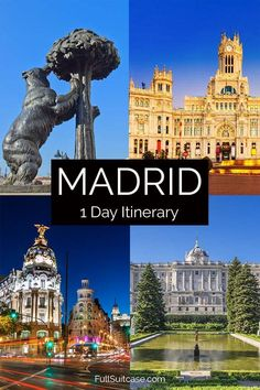 One day itinerary for the best of Madrid, Spain Europe Travel Guide, Spain Travel, Group Travel, Family Travel, Amazing Destinations, Travel Destinations, Visit Madrid, Wanderlust Travel, European Travel