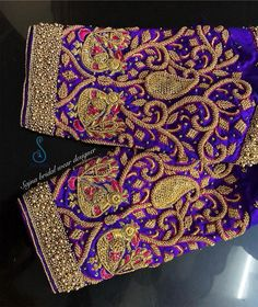 To get your outfit customized visit us at Chennai, Vadapalani or call/msg us at / for appointments, online order… Wedding Saree Blouse Designs, Pattu Saree Blouse Designs, Fancy Blouse Designs, Hand Work Blouse Design, Stylish Blouse Design, Traditional Blouse Designs, Peacock Embroidery Designs, Maggam Work Designs, Sleeve Designs