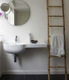 Ladder Bathroom via remodelista.com Storage living-etc-ladder-bath.jpg