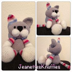 Jeanettes Knuffies: Kitten: Dutch pattern with link to Spanish pattern