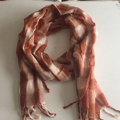 Urban Outfitters orange plaid scarf Urban Outfitters orange/cream gauzy cotton plaid scarf Urban Outfitters Accessories Scarves & Wraps