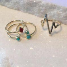 Trilogy Midi-Ring Set #blingjewelry