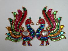 DIWALI Rangoli Peacock Rangoli, Indian Rangoli, Diwali Rangoli, Diwali Decorations, Festival Decorations, Corporate Diwali Gifts, Clay Crafts, Arts And Crafts, Craft Activities For Toddlers