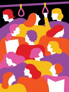 made by: Olimpia Zagnoli - illustration Art And Illustration, Illustration Design Graphique, People Illustration, Horror Vacui, Grafik Design, Art Design, Editorial Design, Vector Art, Illustrators