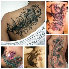 Carpa Koi Giapponese Tatuaggio con Significato di Forza e Coraggio